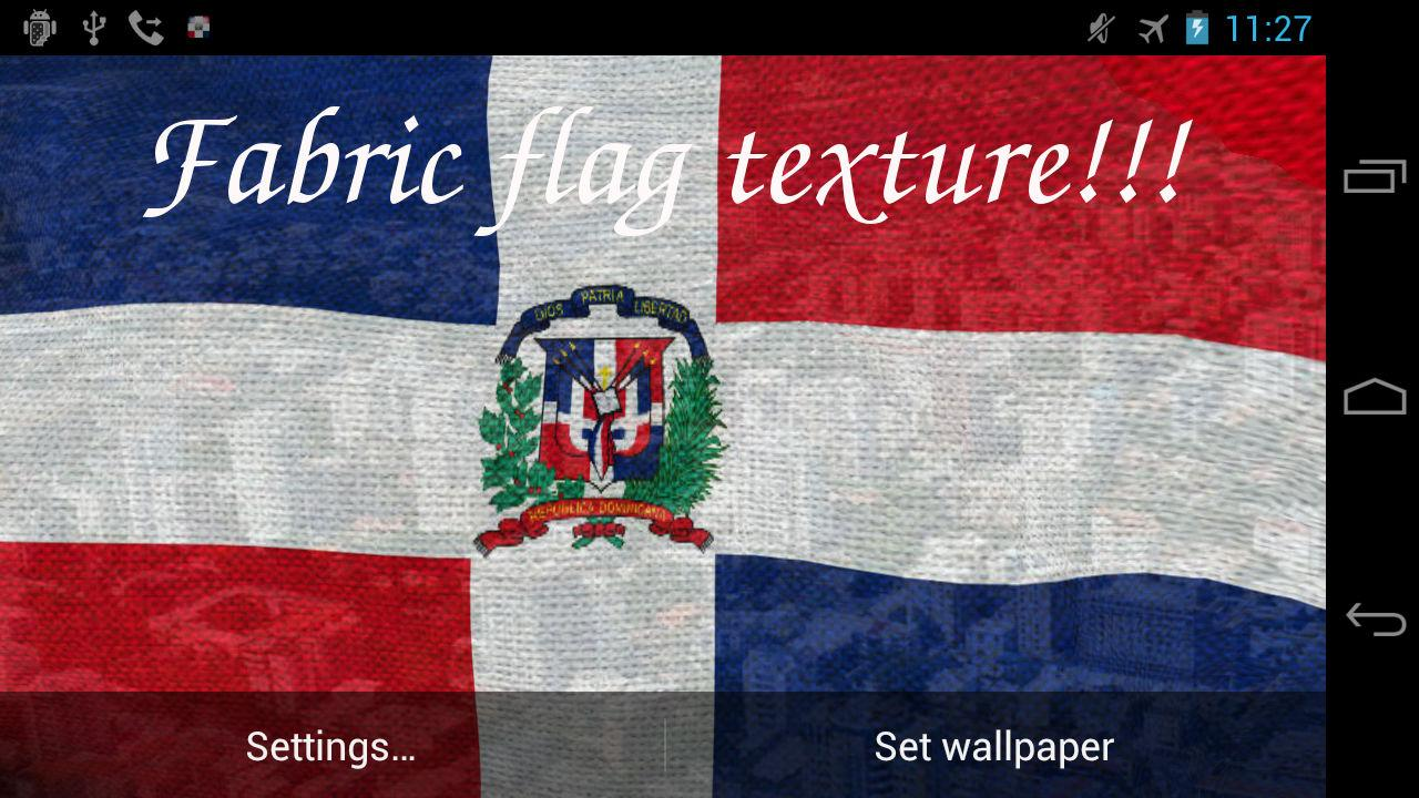 3D Dominican Flag LWP- screenshot