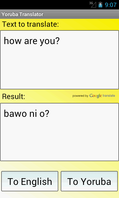 Yoruba English Translator - screenshot