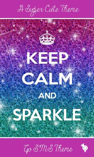 Keep Calm Sparkle GO SMS Theme