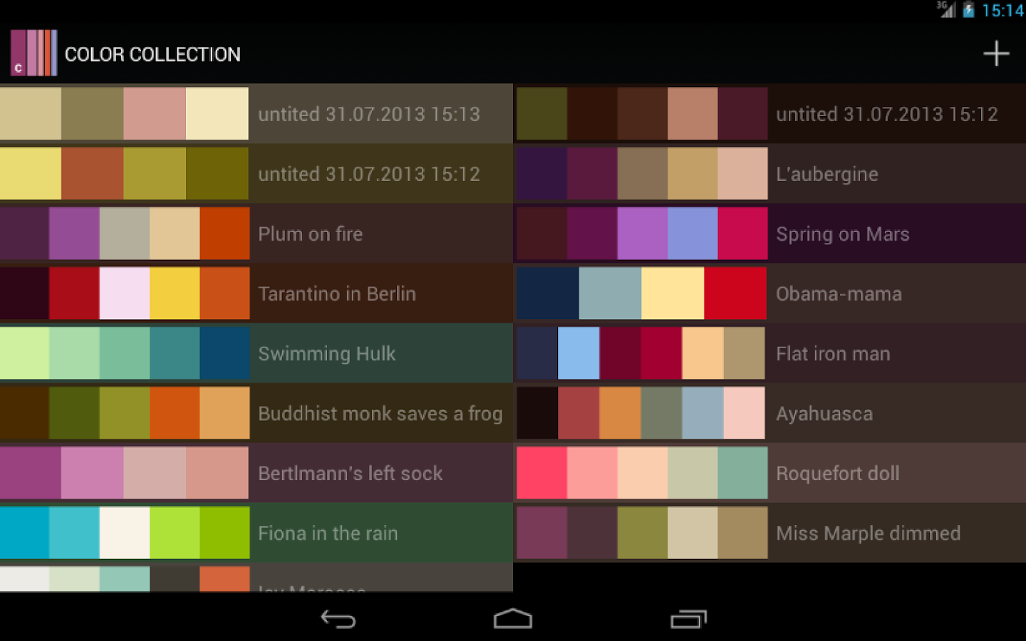 Color collection palettes android apps on google play Interior design color palettes