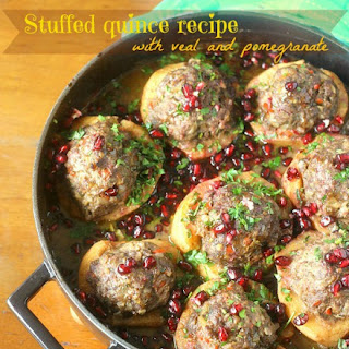 Stuffed Quince With Veal And Pomegranate