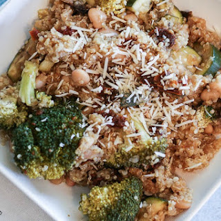Vegetable Parmesan Quinoa in the Slow Cooker
