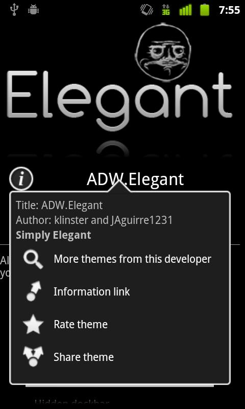 ADW.Elegant Theme - screenshot