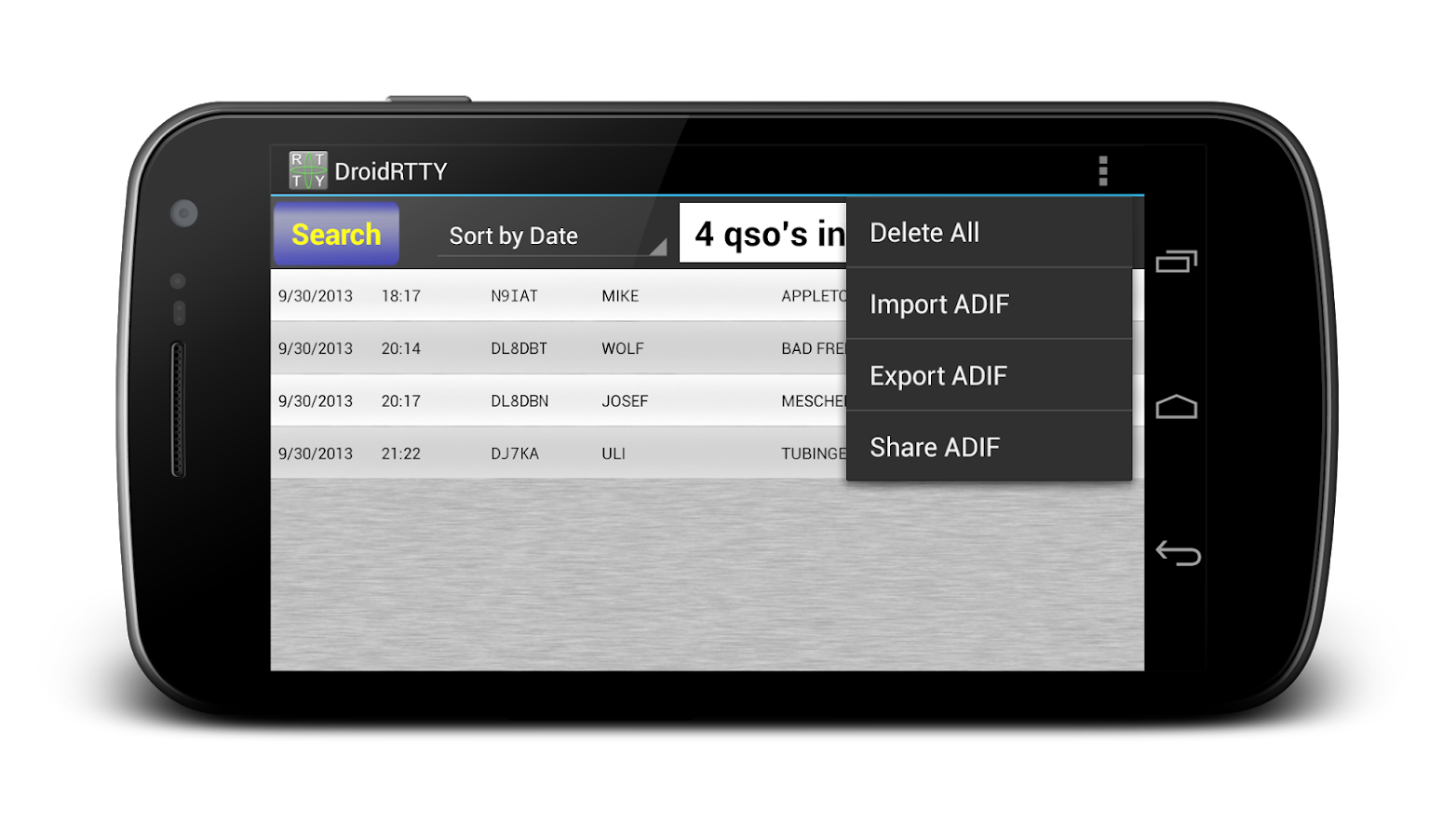 DroidRTTY - RTTY for Ham Radio - screenshot