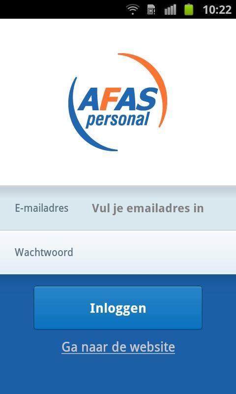 AFAS Personal Huishoudboekje - screenshot