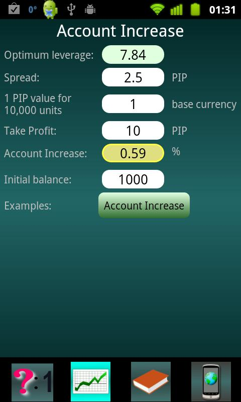 Forex trade optimizer - screenshot