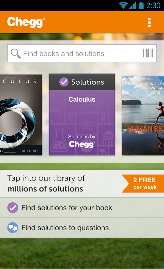 Chegg eTextbooks & Study Tools - screenshot