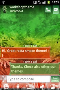 GO SMS Pro Theme Weed Ganja - screenshot thumbnail