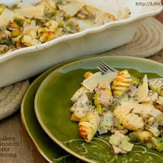 Gnocchi with Mushrooms and Tuna.