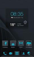 Screenshot of Dark Blue GO LauncherEX Theme