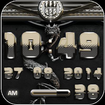dragon digital clock platinum