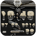 dragon digital clock platinum icon
