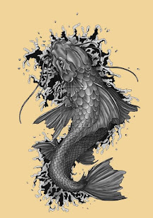 Koi Fish Art HD Wallpaper