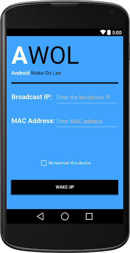 AWOL Android Wake On Lan