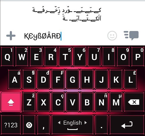 PC u7528 Decoration Text Keyboard 1