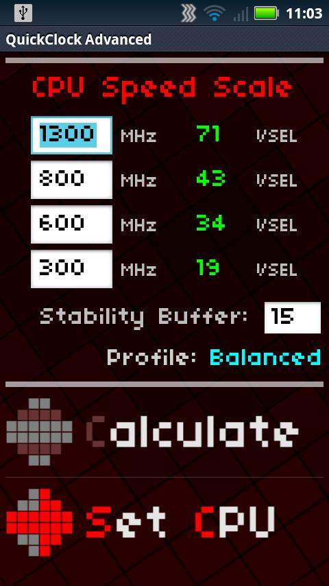 QuickClock Advanced Overclock - screenshot