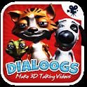 Dialoogs - 3D-Videos sprechen icon