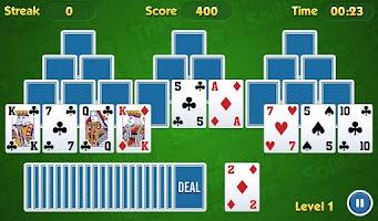 Screenshot of TriPeaks Solitaire Challenge