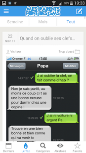 Download Mes parents font des SMS APK for Android