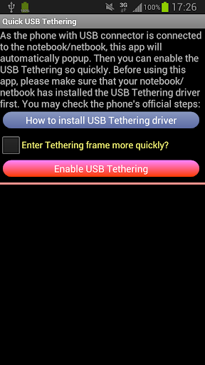 USB Tethering Tether