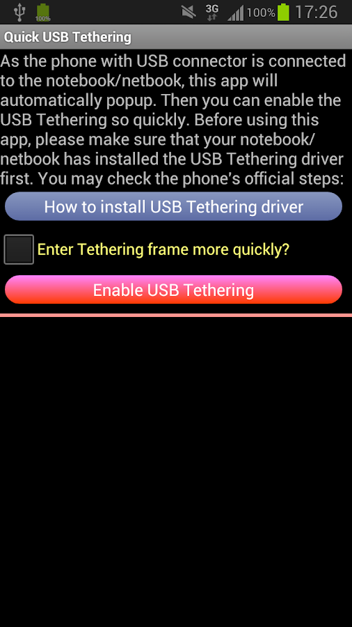 USB Tethering /Tether - screenshot