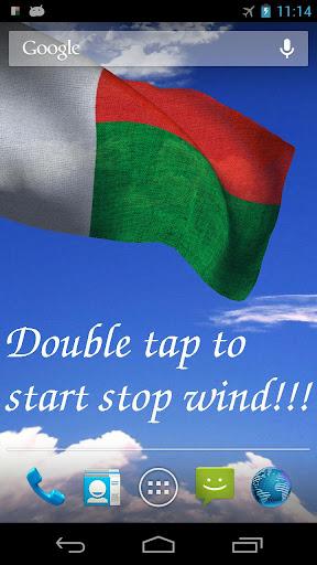 3D Madagascar Flag LWP +