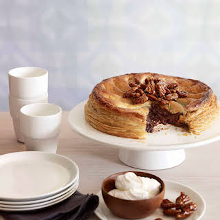 Chocolate And Pecan Pie With Candied Pecans.