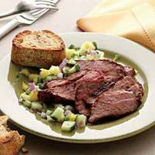 Roasted Tri-Tip with Cucumber-Pineapple Salsa