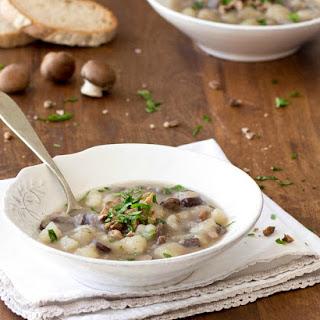 Potato, Mushroom and Chestnut Soup.