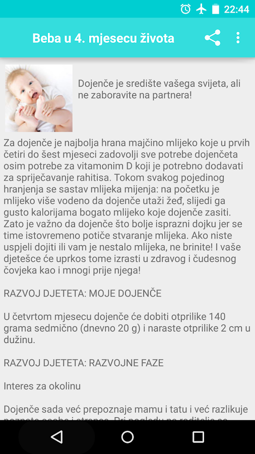 Trudnoća i razvoj bebe- screenshot