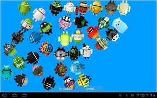 Screenshot of Falling Android Collectibles