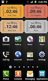 Awesome Clock Widget- screenshot thumbnail