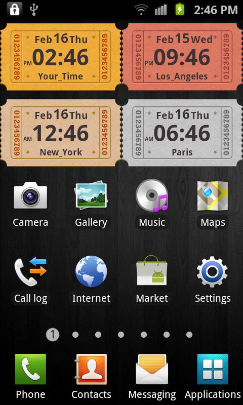 Awesome Clock Widget- screenshot