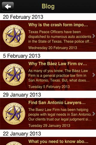 Baez Law Firm - screenshot