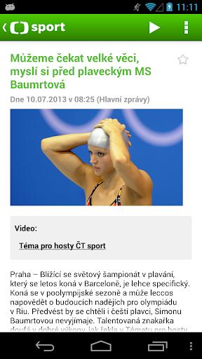 ČT sport 1.7.8 screenshots 2