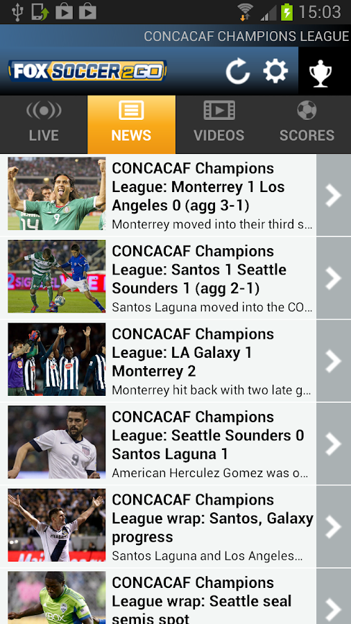 Fox Soccer 2 Go- screenshot