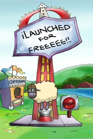 Sheep Launcher Freee!- screenshot