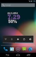 Screenshot of ClockQ - Digital Clock Widget