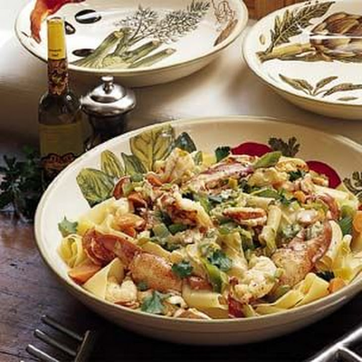 Pappardelle with Lobster, Leeks and White Truffle Oil Recipe