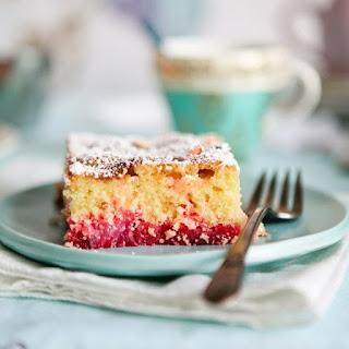 Big Pink Rhubarb Cake