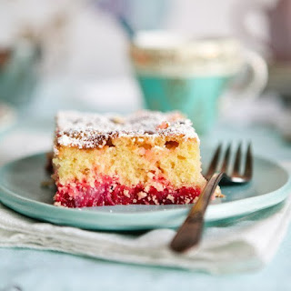 Big Pink Rhubarb Cake.