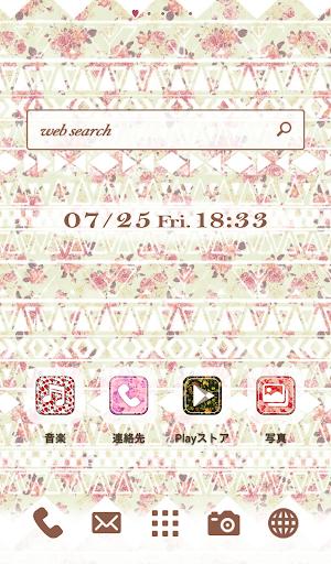 可愛換裝桌布★Geometric Flower