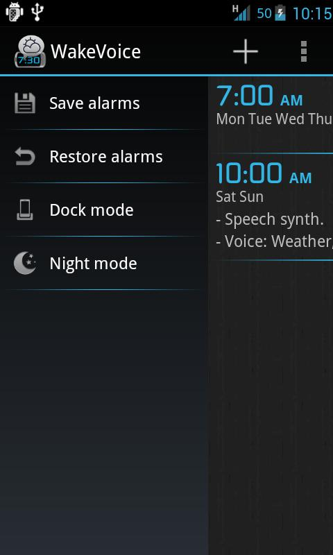 WakeVoice Trial alarm clock - screenshot