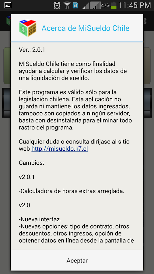 MiSueldo Chile- screenshot