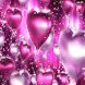 Pink Heart Balloons Live Wallp