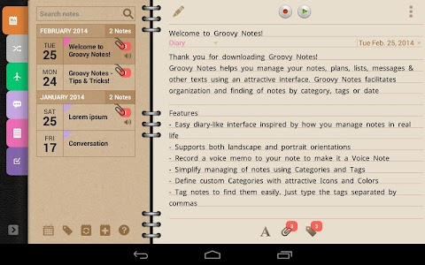Groovy Notes - Personal Diary v1.1.2