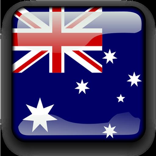 Australia Flag Clock Widget LOGO-APP點子