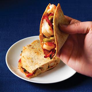Shrimp & Goat-Cheese Quesadillas.