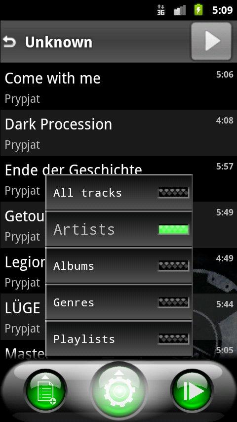 Lithium Music Player - screenshot