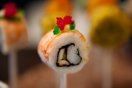 Celebrity_Silhouette_Qsine_dish_2 - Lollipop meets sushi: The food presented in Celebrity Cruises's Qsine restaurant will not only taste amazing, it will visually excite you, too.